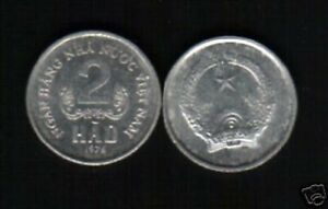 VIETNAM 2 HAO KM12 1976 N H N N V N UN COMMON COIN MONEY ASEAN ASIA