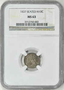 Click now to see the BUY IT NOW Price! 1837 H10C LIBERTY SEATED HALF DIME NO STARS SMALL DATE  MS63 NGC