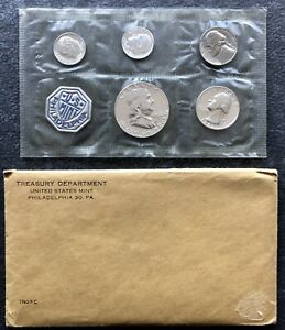 1962 PROOF SET   ORIGINAL IN ENVELOPE PACKAGING ERROR TWO DIMES NO PENNY COIN