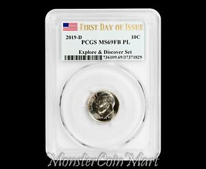 Click now to see the BUY IT NOW Price! 2019 D ROOSEVELT DIME PCGS MS69FB PL FIRST DAY OF ISSUE   FIRST EVER GRADED