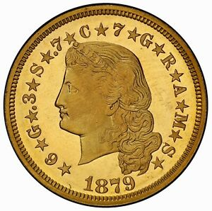 Click now to see the BUY IT NOW Price! 1879 $4 FLOWING HAIR STELLA PCGS PR67CAM  CAC