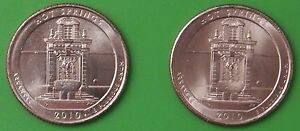 2010 US HOT SPRINGS NATIONAL PARK QUARTER SET ONE P & ONE D FROM MINT ROLLS
