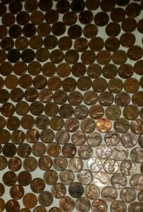 95  COPPER PENNY ROLLS 1959   1982
