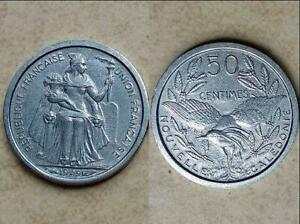 FRENCH NEW CALEDONIA 50 CENTIMES COMMEMORATIVE COINS 18MM