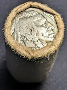 1913 38 BUFFALO NICKEL ROLL FEDERAL SAVINGS BANK OLD WRAPPER 20 COINS