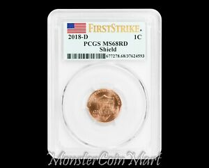 Click now to see the BUY IT NOW Price! 2018 D SHIELD LINCOLN CENT PCGS MS68RD FIRST STRIKE      SUPER HIGH GRADE