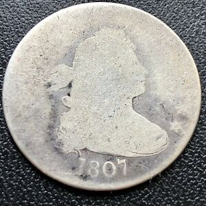 1807 DRAPED BUST QUARTER DOLLAR    EARLY TYPE COIN CIRCULATED 17320
