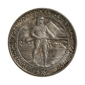 RAW 1925 FORT VANCOUVER 50C UNGRADED US SILVER HALF DOLLAR COMMEMORATIVE COIN