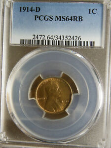 Click now to see the BUY IT NOW Price! 1914 D PCGS MS64RB LINCOLN WHEAT CENT PLEASE CHECK MY OTHER ITEMS