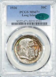 Click now to see the BUY IT NOW Price! 1936 50 CENT LONG ISLAND COMMEMORATIVE SILVER HALF DOLLAR PCGS MS67  CAC APPROVE