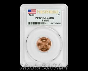 Click now to see the BUY IT NOW Price! 2018 P SHIELD LINCOLN CENT PCGS MS68RD FIRST STRIKE   POP 2  NONE GRADED HIGHER