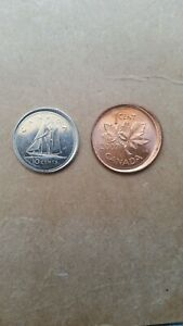 Click now to see the BUY IT NOW Price! 2002 P & 2007 BROADSTRUCK CANADIAN DIME & CENT SET