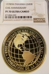 Click now to see the BUY IT NOW Price! 1978 PANAMA G500B OAS ANNIVERSARY NGC PF 70 ULTRA CAMEO TOP POP 4 PERFECTION