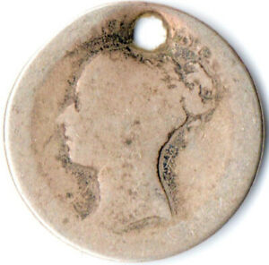 1838 MAUNDY FOURPENCE/GROAT OF QUEEN VICTORIA      WT3251