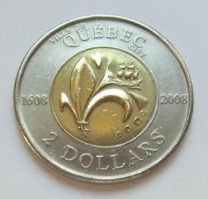 2008 CANADA QUEBEC CITY COMMORATIVE 2 DOLLAR TOONIE    COMBINED SHIPPING