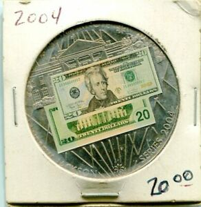 2004 ANDREW JACKSON $20 BANKNOTE COMMEMORATIVE PROOF BANK NOTE COIN