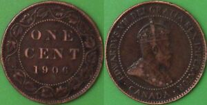 1906 CANADA LARGE PENNY GRADED AS FINE