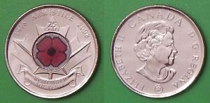 2008 CANADA PAINT POPPY QUARTER GRADED AS BRILLIANT UNCIRCULATED