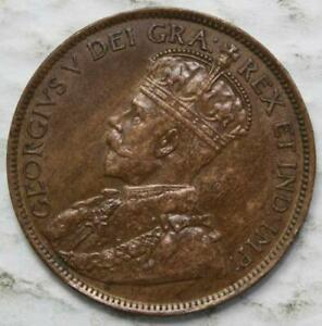 CANADA 1913 LARGE CENT NICE GRADE OLD DATE KGV