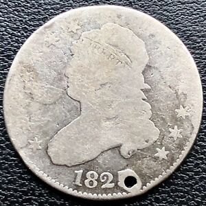 1825 OVER 4 OV. 2 CAPPED BUST QUARTER DOLLAR 1825/4/2 25C  CIRCULATED 18891