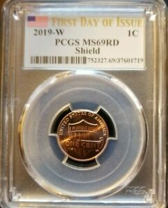 Click now to see the BUY IT NOW Price! 2019 W PCGS MS 69 RD SHIELD LINCOLN PENNY