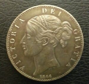 NICE QUEEN VICTORIA 1844 YOUNG HEAD CROWN COIN IN LY FINE CONDITION