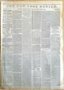 CALIFORNIA GOLD RUSH   THE NY HERALD OCT 15 1849   EARLY REPORTS  NUMISMATIC REL