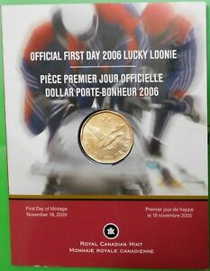 2006 CANADA OLYMPIC DOLLAR SEALED IN COLLECTOR CARD