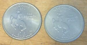 2  2007 P & D WYOMING STATE QUARTERS US COINS
