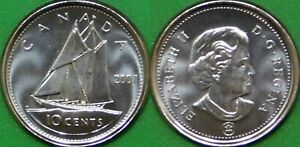2007 CANADA DIME  RCM LOGO  REMOVED FROM MINT ROLL