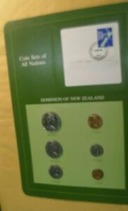 NEW ZEALAND COIN SETS OF ALL NATIONS FROM 1982 IN 6 COIN PANEL