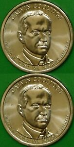 2014 US  P AND D MINTS  CALVIN COOLIDGE DOLLARS GRADED AS BRILLIANT UNCIRCULATED