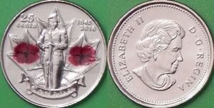 2010 CANADA PAINT POPPY QUARTER GRADED AS BRILLIANT UNCIRCULATED