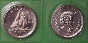 2013 CANADA DIME SEALED IN CELLOPHANE