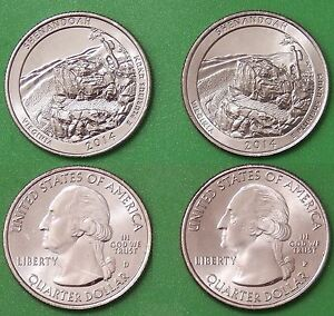 2014 US SHENANDOAH PARK QUARTER SET ONE P&ONE D FROM MINT ROLLS