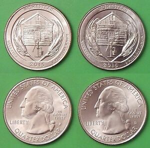 2015 US HOMESTEAD MONUMENT QUARTER SET ONE P&ONE D FROM MINT ROLLS