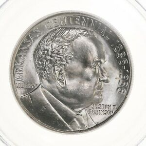 1936 ROBINSON ARKANSAS 50C PCGS CERTIFIED MS65 US SILVER HALF DOLLAR COMMEM COIN
