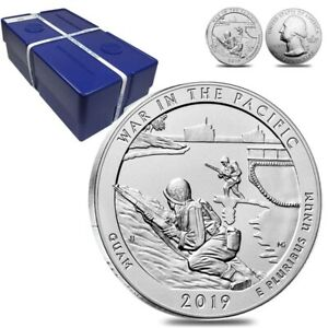 Click now to see the BUY IT NOW Price! MONSTER BOX OF 100   2019 5 OZ SILVER AMERICA THE BEAUTIFUL ATB GUAM WAR IN THE