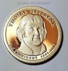 2007 S THOMAS JEFFERSON  PROOF  PRESIDENTIAL DOLLAR COIN