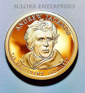 2008 S ANDREW JACKSON PRESIDENTIAL   PROOF  DOLLAR COIN