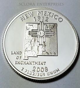 2008 S NEW MEXICO   90  SILVER PROOF   STATE QUARTER