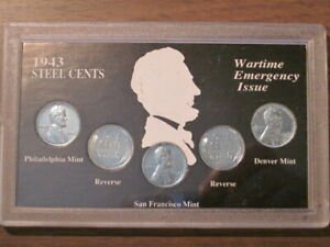 LINCOLN STEEL CENTS COLLECTION   WARTIME EMERGENCY ISSUE   WWII