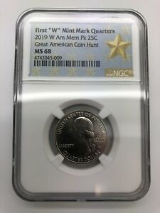 Click now to see the BUY IT NOW Price! 2019 W AMERICAN MEMORIAL 25C QUARTER WEST POINT NGC MS 68