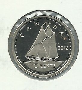 2012 10 CENT PROOF SILVER COIN.