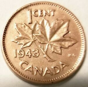 1943 CANADA ONE CENT COIN