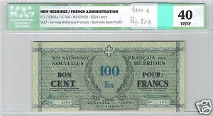Click now to see the BUY IT NOW Price! NEW HEBRIDES 100 FRANCS ND  1943  PICK 3 N 1667 ICG 40 VF/ EF