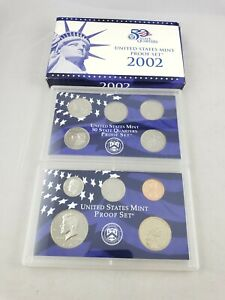 2002 US MINT STATE QUARTER PROOF SET  WITH BOX AND COA