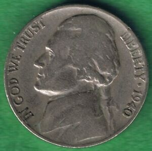 1940 P JEFFERSON NICKEL 5 CENTS CIRCULATED