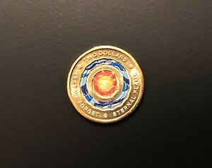 1 X BRAND NEW UNCIRCULATED $2 COIN 2018    ETERNAL FLAME    LEST WE FORGET