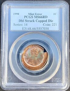 Click now to see the BUY IT NOW Price! 1998 LINCOLN MEMORIAL CENT PCGS MS66RD MINT ERROR DBL STRUCK CAPPED DIE